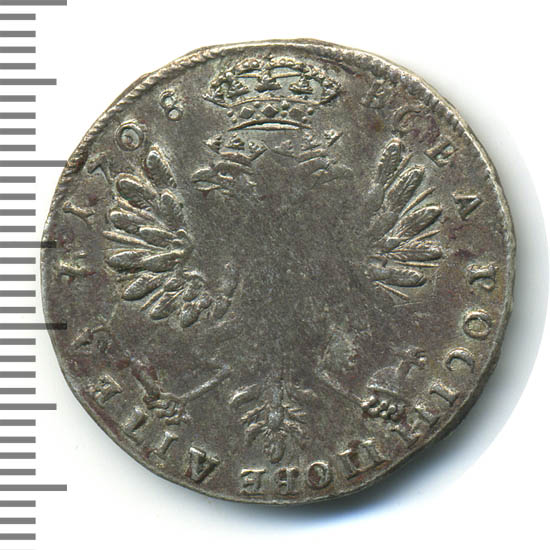 Тинф 1708 г. Для Речи Посполитой (Петр I). Тиражна монета