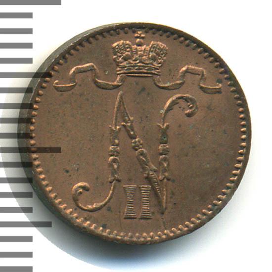 1 пенни 1900 г. Для Финляндии (Николай II).