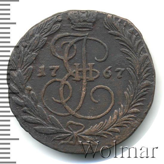 2 копейки 1767 г. ЕМ. Екатерина II Буквы ЕМ