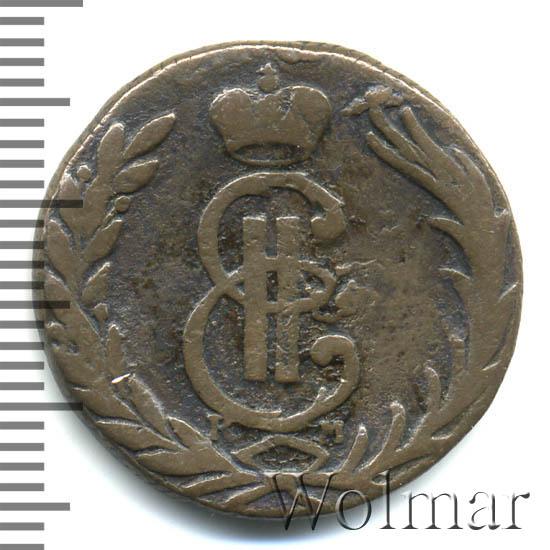 1 копейка 1770 г. КМ. Сибирская монета (Екатерина II) Тиражная монета