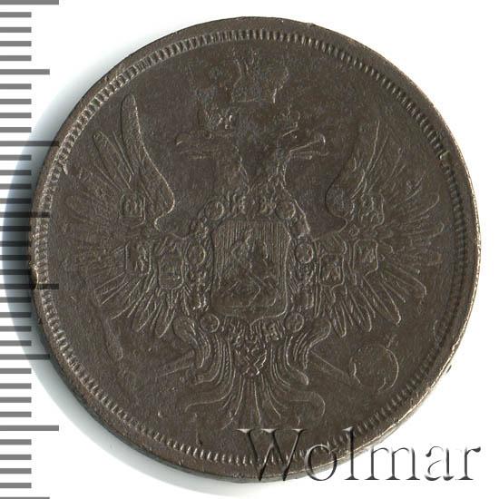 3 копейки 1857 г. ВМ. Александр II Варшавский монетный двор