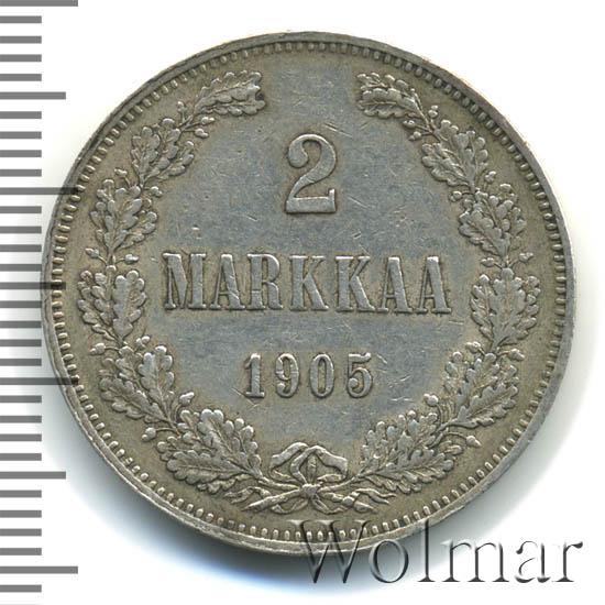 2 марки 1905 г. L. Для Финляндии (Николай II).