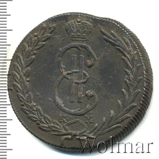 10 копеек 1771 г. КМ. Сибирская монета (Екатерина II). Тиражная монета