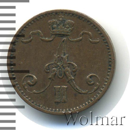 1 пенни 1876 г. Для Финляндии (Александр II).