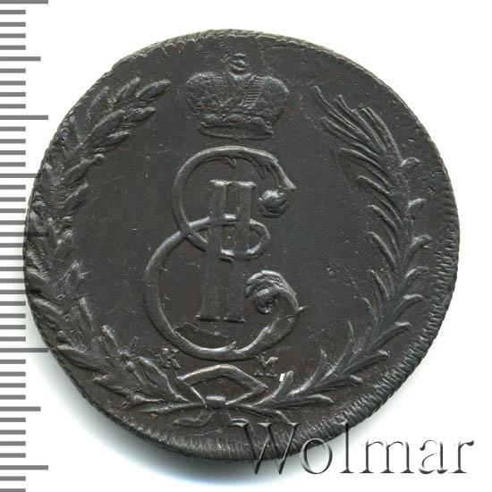 5 копеек 1770 г. КМ. Сибирская монета (Екатерина II) Тиражная монета