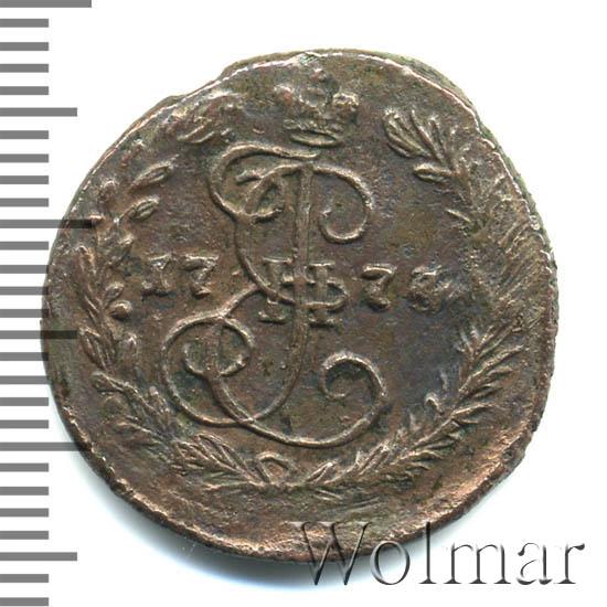 Денга 1774 г. ЕМ. Екатерина II