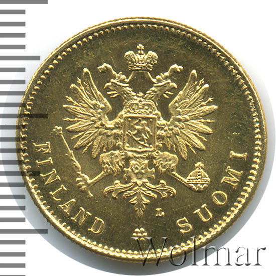 20 марок 1910 г. L. Для Финляндии (Николай II)