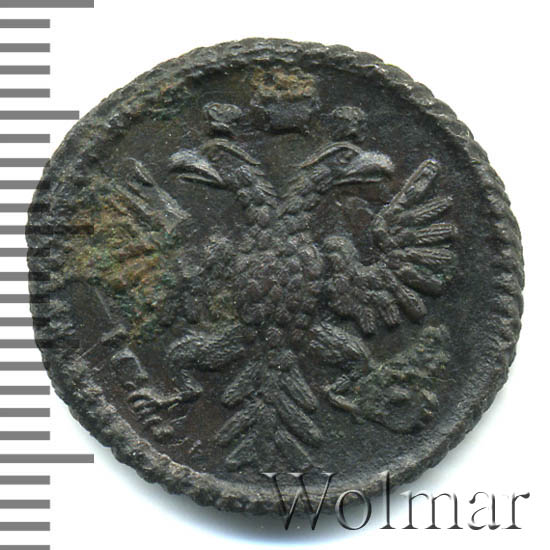 Полушка 1734 г. Анна Иоанновна. Красный монетный двор