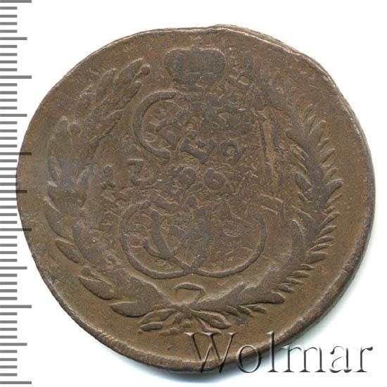 5 копеек 1764 г. СПМ. Екатерина II. Санкт-Петербургский монетный двор. Бант больше