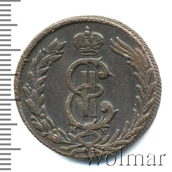 2 копейки 1780 г. КМ. Сибирская монета (Екатерина II) Тиражная монета