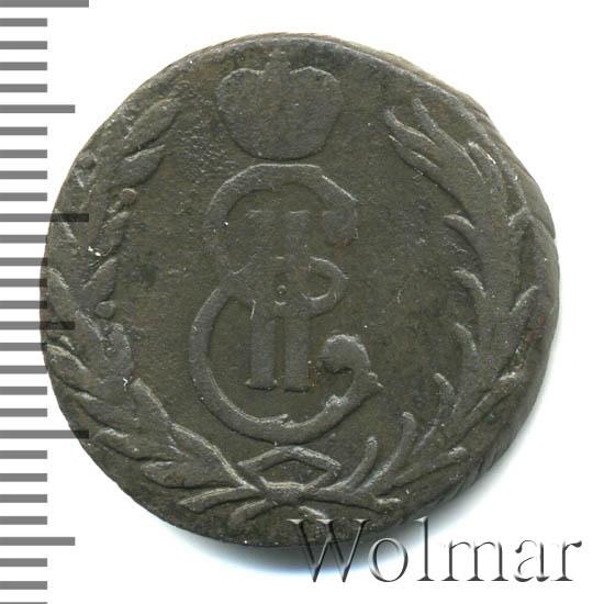 1 копейка 1767 г. КМ. Сибирская монета (Екатерина II) Буквы КМ