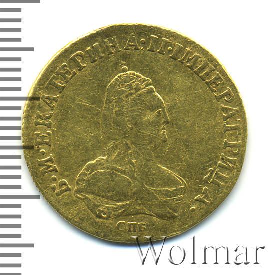 1 червонец 1796 г. СПБ ТI. Екатерина II. Инициалы медальера Т.I