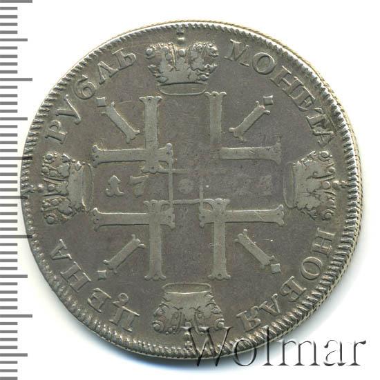 1 рубль 1724 г. СПБ. Петр I. Солнечный, портрет в наплечниках. Над головой звезда