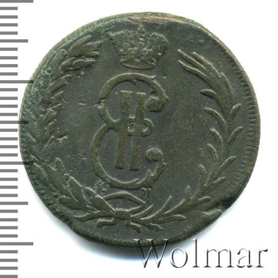 2 копейки 1768 г. КМ. Сибирская монета (Екатерина II) Тиражная монета