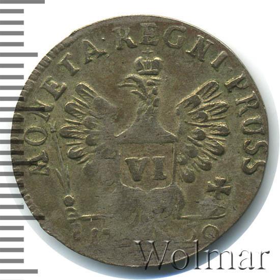 6 грошей 1760 г. Для Пруссии (Елизавета I).