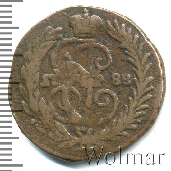 1 копейка 1788 г. ММ. Екатерина II. Буквы ММ