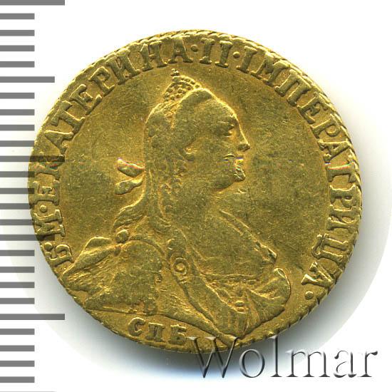 1 червонец 1766 г. СПБ. Екатерина II. Тиражная монета