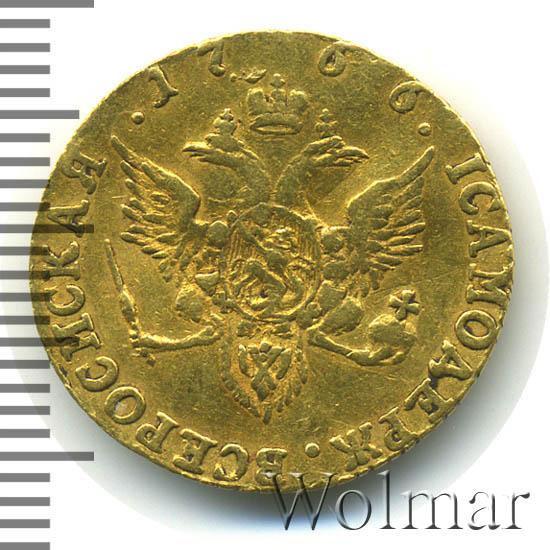 1 червонец 1766 г. СПБ. Екатерина II Тиражная монета