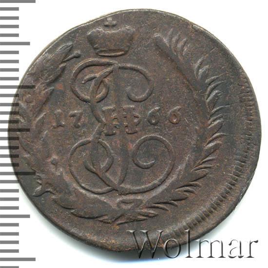 1 копейка 1766 г. ММ. Екатерина II. Буквы ММ