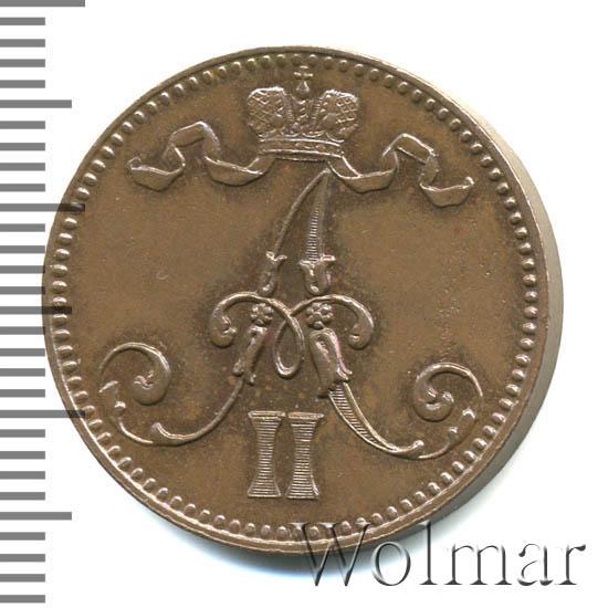 5 пенни 1866 г. Для Финляндии (Александр II).