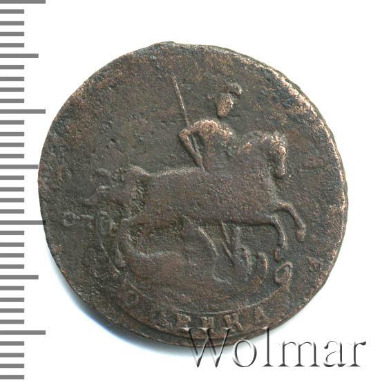 1 копейка 1766 г. СПМ. Екатерина II. Буквы СПМ