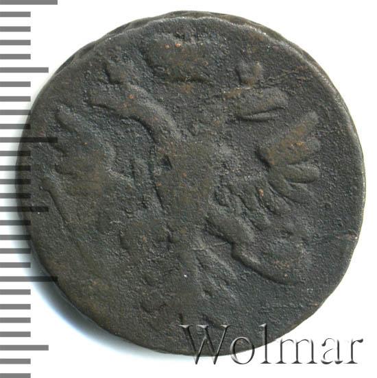Денга 1743 г. Елизавета I В крыле 7 перьев