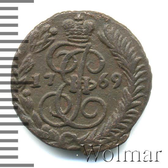 Полушка 1769 г. ЕМ. Екатерина II. Буквы ЕМ