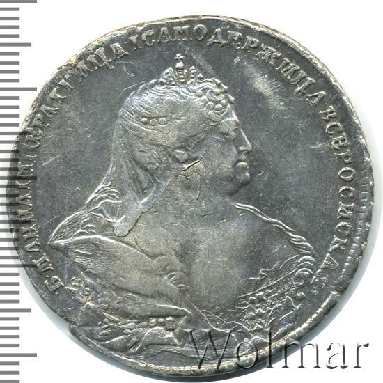 1 рубль 1737 г. Анна Иоанновна Красный тип.