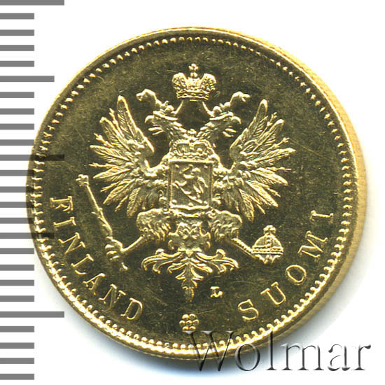 20 марок 1904 г. L. Для Финляндии (Николай II)