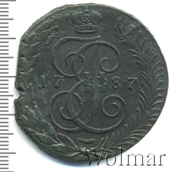 5 копеек 1787 г. ТМ. Екатерина II. Таврический монетный двор. Гурт сетка