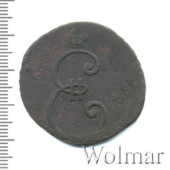 4 копейки 1796 г. Екатерина II. Вензельные. Сетчатый гурт