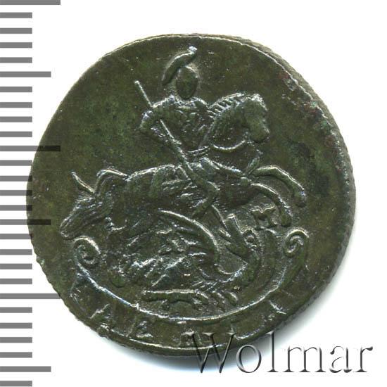 Денга 1789 г. КМ. Екатерина II. Буквы КМ