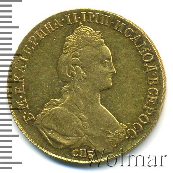10 рублей 1780 г. СПБ. Екатерина II. Тиражная монета
