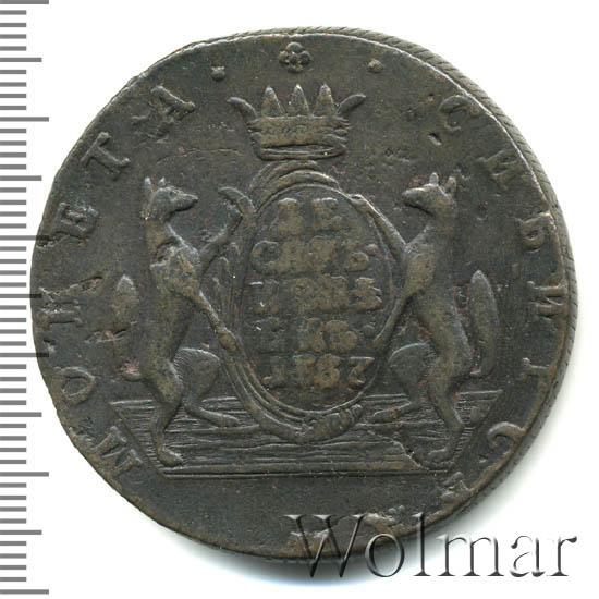 10 копеек 1767 г. КМ. Сибирская монета (Екатерина II). Буквы КМ. Шнуровидный гурт