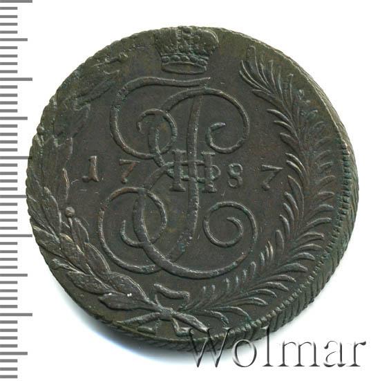 5 копеек 1787 г. ТМ. Екатерина II Таврический монетный двор. Гурт насечки