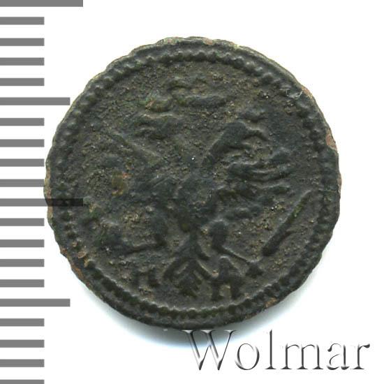 Полушка 1721 г. НД. Петр I. Год славянский. Набережный монетный двор.Тиражная монета