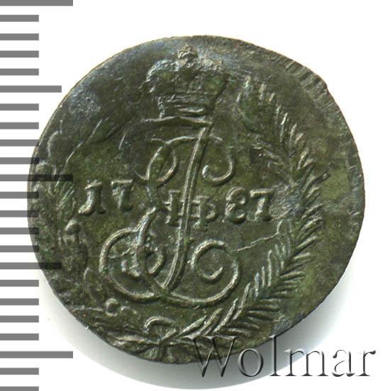 Полушка 1787 г. КМ. Екатерина II.