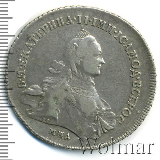 1 рубль 1763 г. ММД EI. Екатерина II Инициалы минцмейстера EI