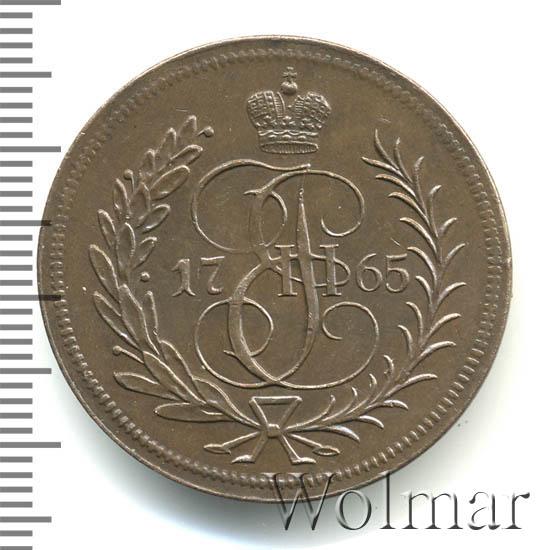1 копейка 1765 г. Екатерина II. Без обозначения монетного двора. Новодел