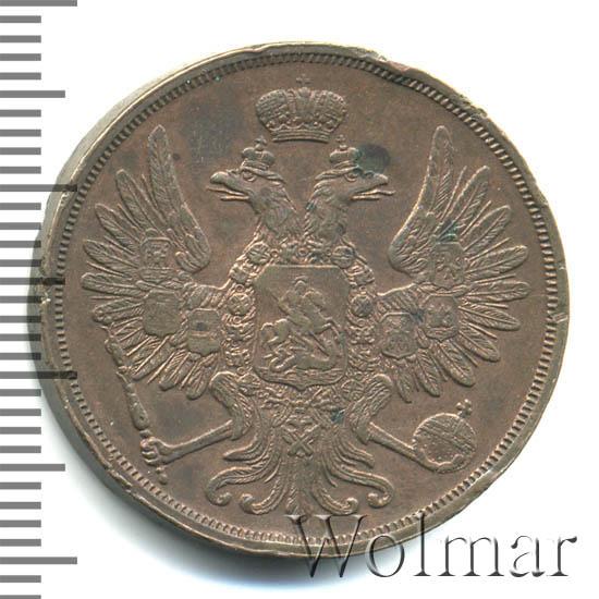 2 копейки 1858 г. ВМ. Александр II Варшавский монетный двор