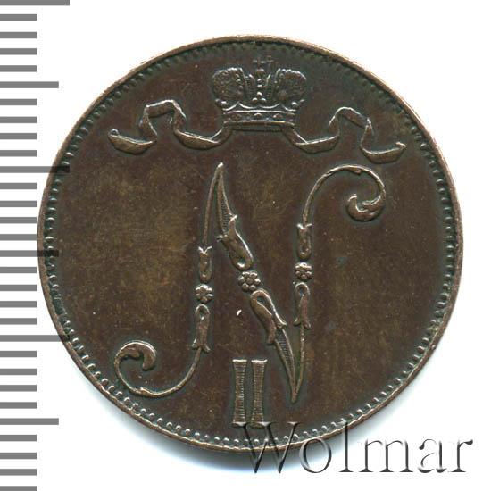 5 пенни 1897 г. Для Финляндии (Николай II)