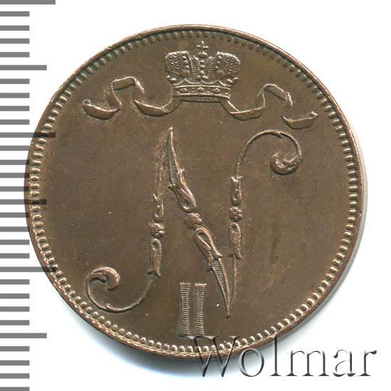 5 пенни 1905 г. Для Финляндии (Николай II)