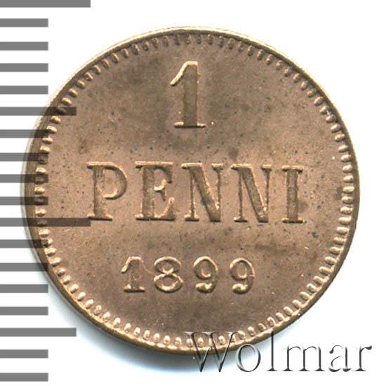 1 пенни 1899 г. Для Финляндии (Николай II).