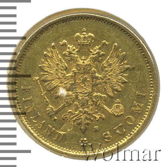 10 марок 1879 г. S. Для Финляндии (Александр II).