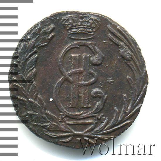 Полушка 1768 г. КМ. Сибирская монета (Екатерина II) Тиражная монета