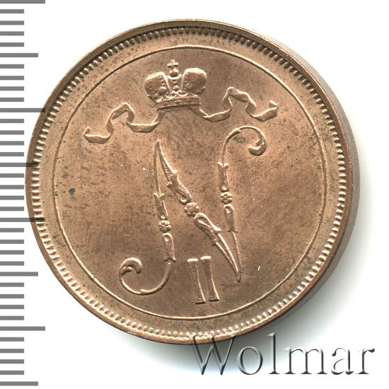10 пенни 1912 г. Для Финляндии (Николай II)