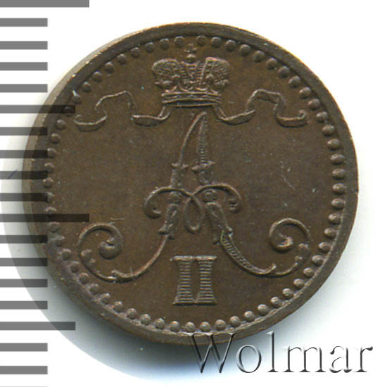 1 пенни 1870 г. Для Финляндии (Александр II)