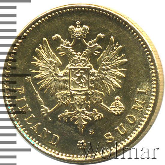 20 марок 1912 г. S. Для Финляндии (Николай II). Инициалы минцмейстера S
