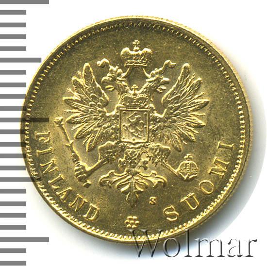 10 марок 1882 г. S. Для Финляндии (Александр III)