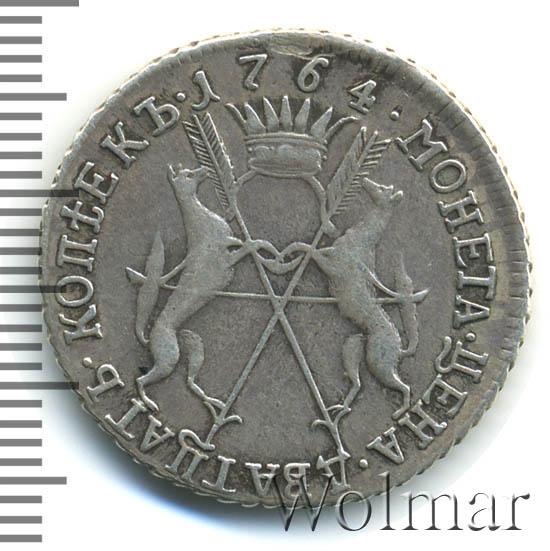Полуполтинник 1764 г. ММД EI ТI. Екатерина II. Инициалы медальера T.I
